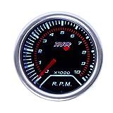 THG 55mm0~8000RPM LED Auto Motorrad digital Silber Metall Drehzahlmesser Tourenzähler tachometer Zusatzinstrument Gauge
