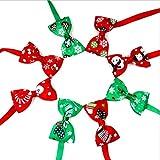 soundwinds Hundehalsband, mit Fliege, verstellbar, für Weihnachten, Urlaub, Party, 8 Stück