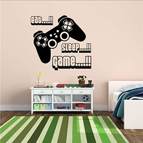 Eat Sleep Game vinyl wandkunst Gamer Xbox Ps3 kinder Jungen Schlafzimmer Wohnkultur Wandaufkleber 58 * 63 cm