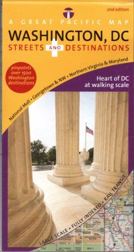 Washington, DC Map (Washington, DC Streets & Destinations, 2. Edition) (Washington Dc Street Map)
