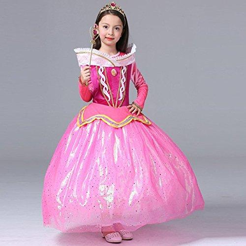 Imagen de katara 1742 disfraz para niña inspirado en aurora de disney rosa rosa 122 etikett 130  alternativa