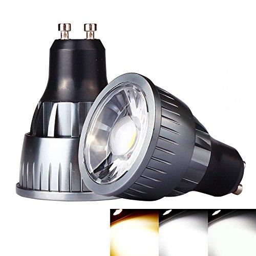 Ossun 9W GU10LED-Leuchtmittel, Warmweiß, Tageslicht, dimmbar 80W Halogen-Äquivalent, super hell, energiesparend, für den Innengebrauch im Wohnzimmer, Esszimmer Schlafzimmer, als Beleuchtung, Einbauleuchte Schrankbeleuchtung, Deckenleuchte, metall, cool white, gu10, 9.00W 230.00V
