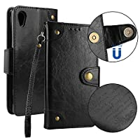 BONROY Case,Sony Xperia Z5 Flip Leather Case, Shockproof Bumper Cover and Premium Wallet Case for Sony Xperia Z5-Black