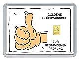 """1g Goldbarren 999,9 Feingold in Motivbox """"Goldene Glückwünsche zur Bestandenen Prüfung"""""""