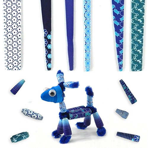 Beading Strips- Cool Blue Theme- Cone Beads- DIY for making jewellery, wrist bands and other fun paper-craft projects (120 beads pack)