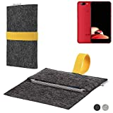 flat.design Handy Hülle Aveiro für Elephone P8 Mini passgenaue Filz Tasche Case Sleeve Made in Germany