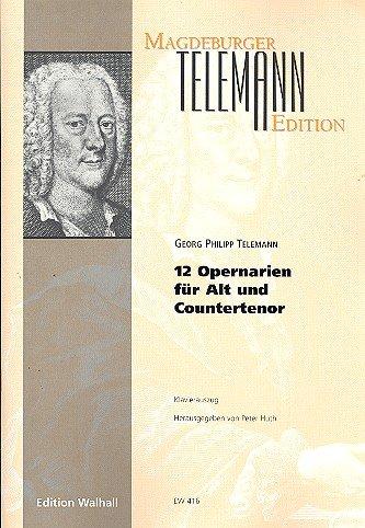 12 Opernarien für Alt (Countertenor) (Klavierauszug) (Arie Schönheit)