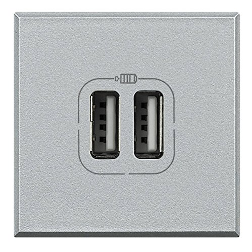 BTicino Axolute Caricatore USB, 1500 mA, 5 V, 2 Posti,...