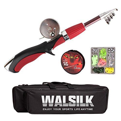 Walsilk Spinning Canne à Pêche et moulinet Combo Kit...