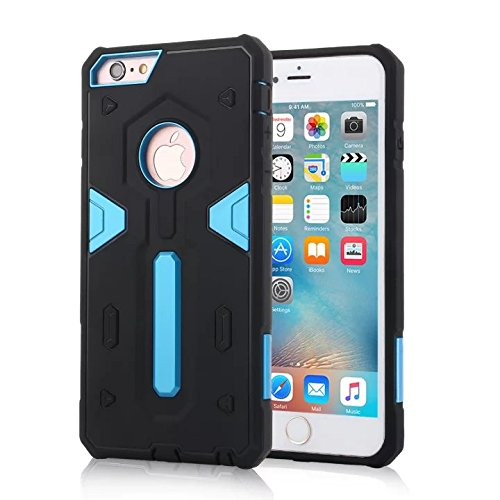 YHUISEN IPhone 6/6S Fall, 2 In 1 PC + TPU Dual Layer Armor Hybrid Schutz Schock Absorption Hard Back Cover Case für iPhone 6 / 6S ( Color : Blue ) Blue