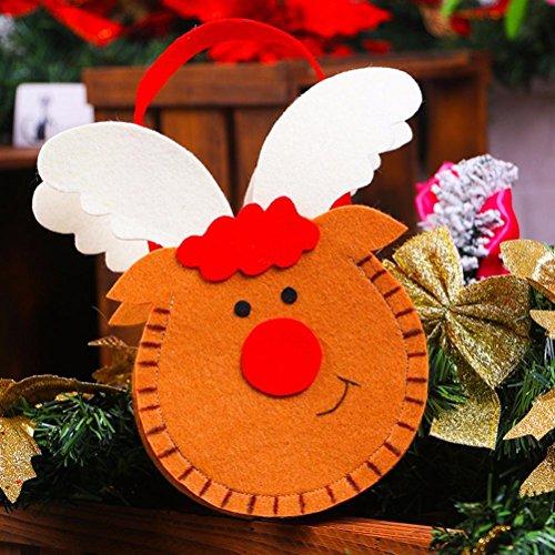 Transer® Weihnachten Geschenk Tasche Souvenir Kinder Kordelzug Snack Süßigkeiten Paket Kreative Dekoration Weihnachtsbaum Ornament Party Handtasche, 15x21x5 cm (Für Diy Batman Kostüm Mädchen)