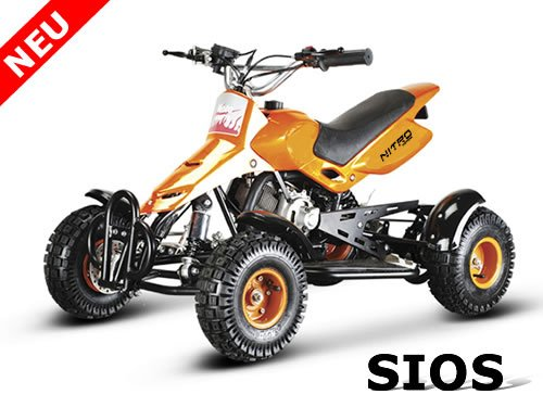 49cc mini QUAD SIOS 3x BREMSE Kinderquad Pocketquad 49 ccm