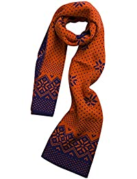 sourcingmap Unisex Warm Soft Thick Jacquard Weave Scarf