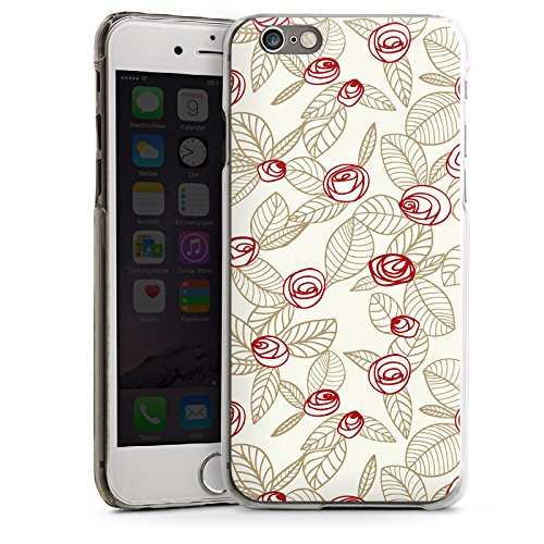 Apple iPhone 6 Housse Étui Silicone Coque Protection Roses Roses Roses CasDur transparent