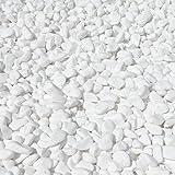 Marmo ghiaia Snow bianco neve giardino ghiaia a scelta (bianco puro 5-15mm / 950g)