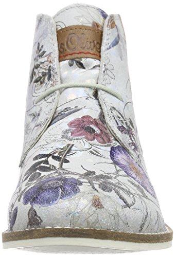 s.Oliver 25100, Bottes Desert courtes, doublure froide femme Argent (Silver Multifl 951)