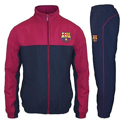 FC Barcelona - Jungen Trainingsanzug - Jacke & Hose - Offizielles Merchandise - Geschenk für Fußballfans - 6-7 (Mannschaft Locker)