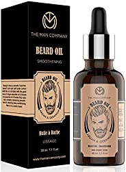 The Man Company Beard Growth Oil With Argan & Geranium For Beard Growth - 30Ml | Made in I