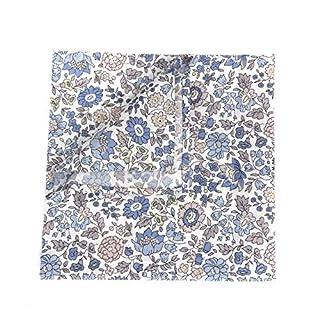 Liberty Print Pocket Square - D`Anjo - Hand Stitched Hem 29 x 29 cm