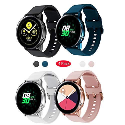 TOPsic für Samsung Galaxy Watch Active Armband/Galaxy Watch 42mm Armband/Gear Sport Armband 20mm Weiche Silikon Sport Ersatzband Uhrenarmband