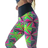 Aelegant Damen Sommer Bunt Slim fit Stretch Skinny Hohe Taille Jogginghose Sporthose Yoga Leggings Atmungsaktiv Schweißabsorption