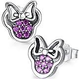 Twenty Plus® Pendientes de Mujer con Diseños Brillantes de Minnie Mouse Rosado del