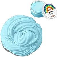 Fluffy Slime, 6 onzas Putty Floam Slime Sensorory Juguete antiestrías con contenedor ADHT ASMR No bórax con agradable fragancia para niños y adultos Certificación EN71 (Blue) (azul)