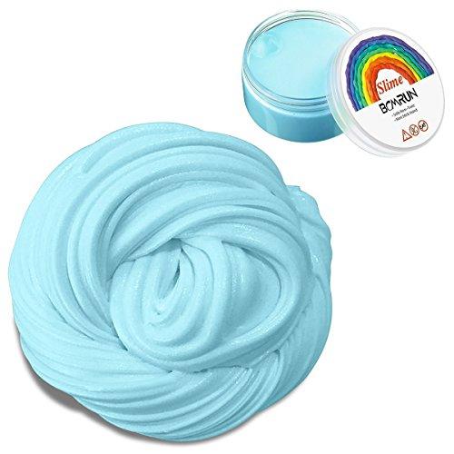 Slim lanuginoso, 6 once di putty floam slime sensory play gioco di sollievo di stress con il contenitore di immagazzinaggio adht asmr no borax con il profumo piacevole per i bambini ed i adulti e (blue) (blu)