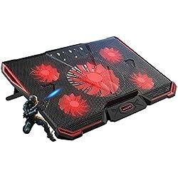 Joyeer-Laptop Ordinateur Portable de Refroidissement Pad Bruit-Free Notebook Refroidisseur USB Portable Ventilateurs pour 15,6/17/18/19 Pouces Support Refroidisseur Réglable