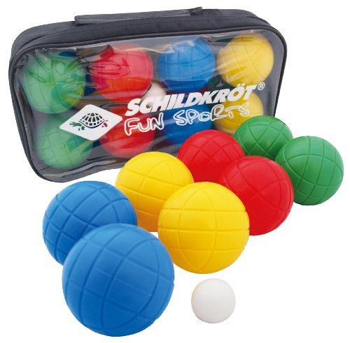 Schildkröt Funsports Boccia Set 4 x 2 Kunststoffkugeln+1 Zielkugel, 970009 (Farbe sortiert)