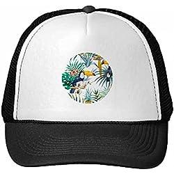 DIYthinker Nylon Gorra de béisbol Acuarela Tucán arbusto piña Loro Gorros Gorro Fresca niños del Casquillo del Sombrero Ajustable Regalo para Adultos