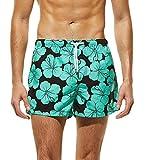 URSING Sommer Herren Shorts Badeshorts Swimming Trunks Beach Badehose mit Taschen für Surfen Beachshort Schwimmhose Freizeithose Strandshorts Boxershorts Unterhose Freizeithosen