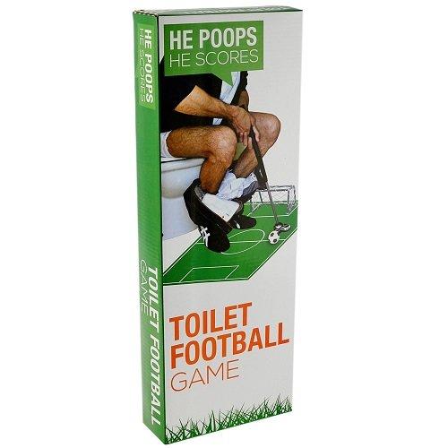 GiggleBeaver Badezimmer WC FUSSBALLTOR Mini NET SPASSGESCHENK NEUHEIT Spielzeug Ball Miniatur