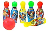 Zitto Superman Bowling Set Plastic 6 Pins 1 Balls Educational Mini Bowling Toy for Kids