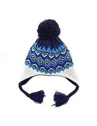 4914d1d9367d DB-Children hat Bonnet Tricot Péruvien Pompon Tresse Gamin Bébé Fille  Garçon Chapeau Automne Hiver