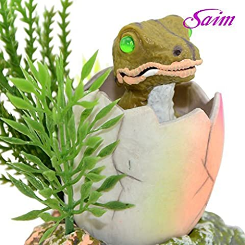 Saim Baby Dinosaur Hatching out Aquarium Ornament Fish Tank Decoration