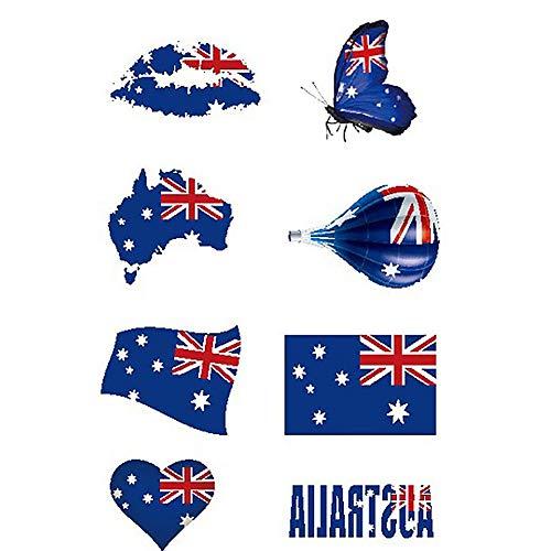(Naisicatar 1 Wasserdichtes Nationalflagge Aufkleber WM Gesicht Körper Aufkleber Unisex Temporary Tattoos Australien Nützliche und Schöne Set)