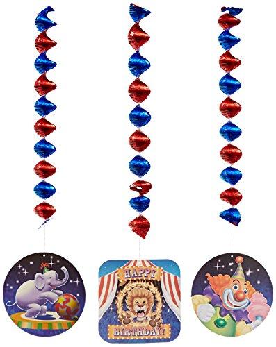 Big Top Geburtstag 3zählen Dangling Einbauöffnungen hängende Dekoration Party (Zirkus Dekor)