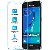 Samsung Galaxy J1(2016) vidrio templado Protector de pantalla, 11: 11accesorios genuino 9H Dureza 0,26mm Ultra claro templado vidrio Protector de pantalla táctil Protector de pantalla con 2.5d bordes lisos, HD transparencia, recubrimiento oleophonic [sin burbujas]
