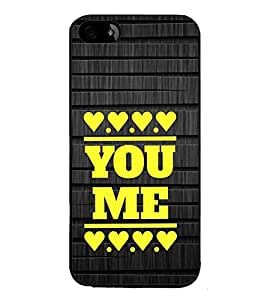 Fuson Premium 2D Back Case Cover you and me With White Background Degined For Apple iPhone 4::Apple iPhone 4S