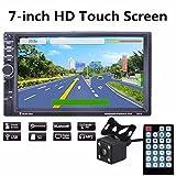 Upxiang HD GPS Navigationsgerät, Autoradio mit GPS Navigation, Rückfahrkamera, Doppel 2 DIN Stereo, 7 Zoll HD Touchscreen, Bluetooth-Freisprechanrufe unterstützen