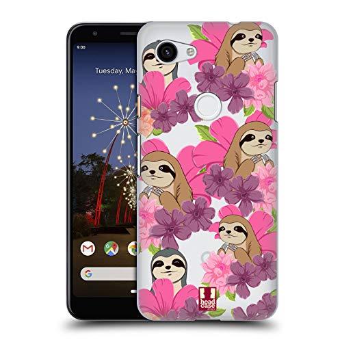 Head Case Designs Faultier Blumen Und Tiermuster Harte Rueckseiten Huelle kompatibel mit Google Pixel 3a