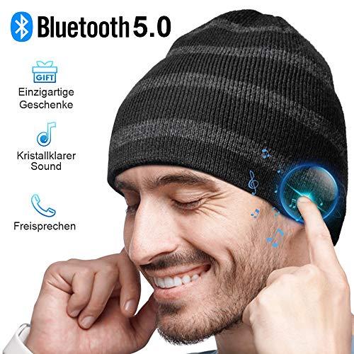 Bluetooth Mütze Herren Damen Geschenke, Bluetooth 5.0 Kopfhörer Mütze, Männer & Frauen Bluetooth Beanie Mütze, Musik Mütze für Skifahren, Laufen, Skaten, Weihnachts Geschenke Männer, Geschenke Frauenn