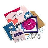 Taumur DIY-Set mit PPM-Seil für zweifach Verstellbare Hundeleine - pink/türkis