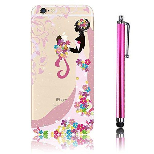 Cover iPhone 6S (4.7), iPhone 6 Custodia, Bonice TPU trasparente Ultra Slim Thin 3D Case + Stilo Penna - sposa