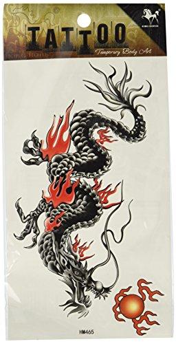 King Horse étanche et la sueur des hommes de tatouage de dragon autocollant totem