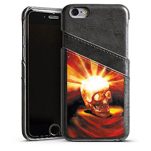Apple iPhone 4 Housse Étui Silicone Coque Protection Tête de mort Halloween Cendre Étui en cuir gris