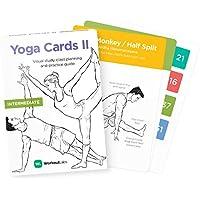 YOGA CARDS II: Intermedio – Estudio Visual Premium, Secuencia de Clases y Guía Practica con Nombres sánscritos de Asana Vol. 2 (Tarjetas de plástico por WorkoutLabs)