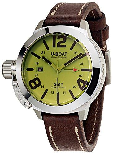 Reloj Automático U-Boat Classico, Tungsteno, GMT, Negro, 45mm, 8051