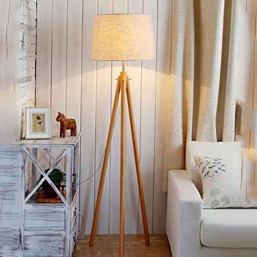 YYHAOGE Moderne Einfache Holzplatte Lampe, Kreative Drei Stehen, Stock - Lampe Geeignet Für Wohnzimmer Schlafzimmer Des Restaurants Büro